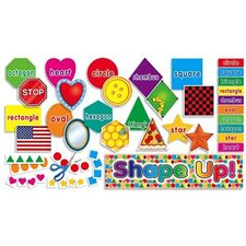 Mini Shape Up Bulletin Board Cut Out (Set of 63)