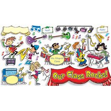 School Rocks Grade Pk-6 Bulletin Board Cut Out
