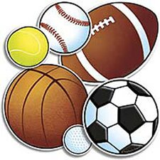 36 Piece Punch-outs Sport Balls Bulletin Board Cut Out
