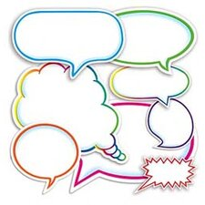 Dialogue Bubbles Accent Punch-outs Bulletin Board Cut Out (Set of 2)