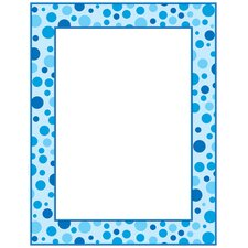 Blue Polka Dots Printer Paper