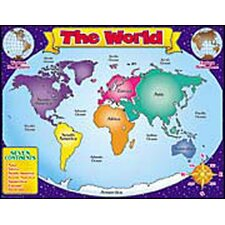 World Map Friendly Chart 17x22 (Set of 3)