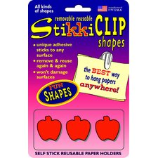 Stikkiclips 6 Red Apples Per Pack (Set of 2)