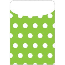 Brite Pockets Polka Dots 25/bag File Folder (Set of 2)
