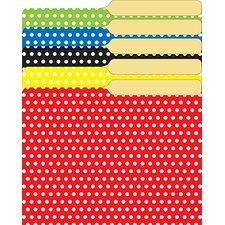 Mini File Folders Assorted Polka