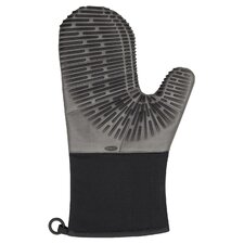 Silicone Oven Mitt With Magnet - Licorice