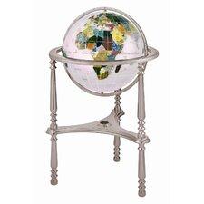 "13"" Ambassador Opal Globe with Three Leg High Stand in Silver"
