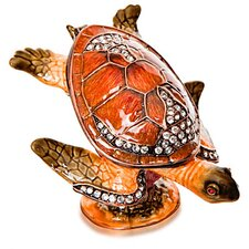 Vanity Sea Turtle Crystal Gift Box
