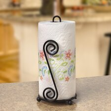 Scroll Paper Towel Holder in Black
