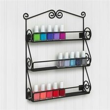 Scroll Wall Mount Nail Polish Holder
