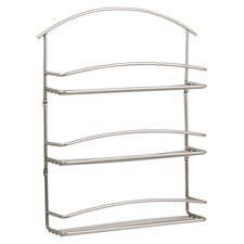 Euro Wall Mount Spice Rack in Satin Nickel