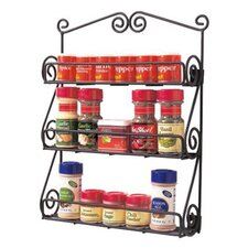Scroll Wall Mount Spice Rack in Black