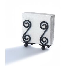 Scroll Napkin Holder in Black