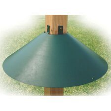 Post Mount Squirrel Baffle in Green