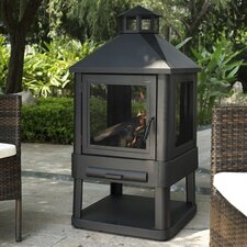 Outdoor Villa Pagoda Fireplace