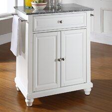 Cambridge Kitchen Cart with Granite Top