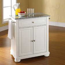 Alexandria Kitchen Cart with Granite Top