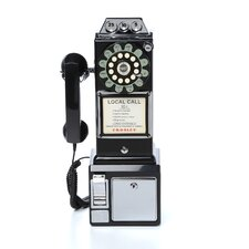 1950's Classic Black Pay Phone