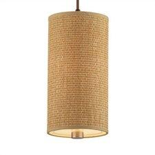 Taylor Organic Modern Mini Pendant Shade in Natural Grasscloth
