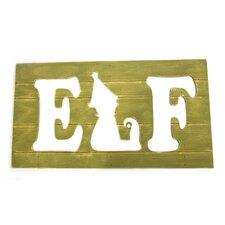 Elf Plank Wall Plaque