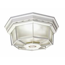 Motion Activated 4 Light Flush Mount