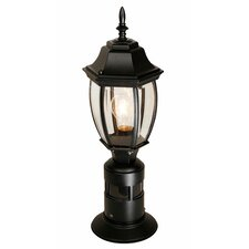 "1 Light 7"" Outdoor Post Lantern with Motion Sensor"