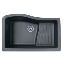"Swanstone Classics 32"" x 21"" Undermount Ascend Bowl Kitchen Sink"