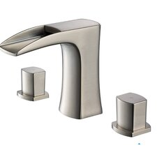 Fortore Double Handle Widespread Waterfall Faucet