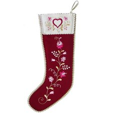 Hearts and Flowers Stocking