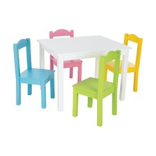 Kids 5 Piece Wood Table & Chair Set