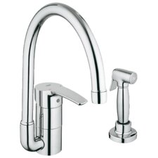 Eurostyle Single Handle Single Hole Standard Kitchen Faucet with Side Spray