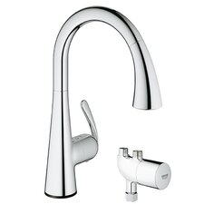 LadyLux3 Single Handle Single Hole Kitchen Faucet with Grohtherm Micro