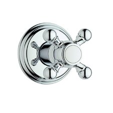 Geneva Volume Control Shower Faucet Trim with Cross Handle