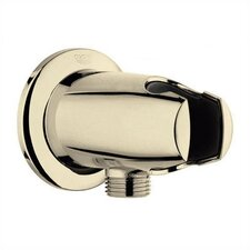 Movario Wall Union with Hand Shower Holder in Polished Brass