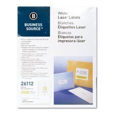 "Mailing Labels, Laser, 1""x4"", 2000 per Pack, White"