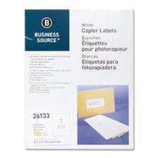 Full Sheet Labels, 100 per Pack, White