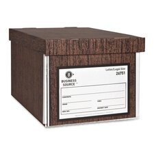Storage Boxes, Lift Off Lid, Ltr/Lgl, Woodgrain, 12-Pack