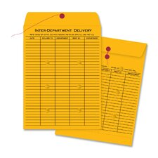 """Envelopes, Interdepartmental, Two-sided, 10""""x13"""", 100 Count, Kraft"""