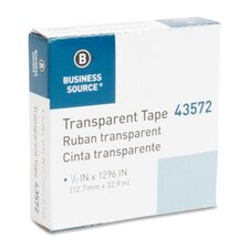 """All-Purpose Tape, Glossy, 1"""" Core, 1/2""""x1296"""", Transparent (Set of 6)"""