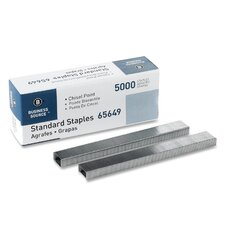 "Standard Staples,Chisel Point,1/2"" W,1/4""L,210 Strip (Set of 6)"