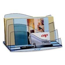Desk Accessories, Letter Sorter, Transparent/Ice Blue