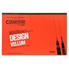 "Vellum Pad, 50 Sheets, Acid-free, 11""x17"", White"