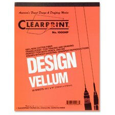 "Vellum Pad, 50 Sheets, Acid-free, 8-1/2""x11"", White"