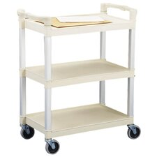 "3-Shelf Utility Cart, 36""x16""x31"", Beige"