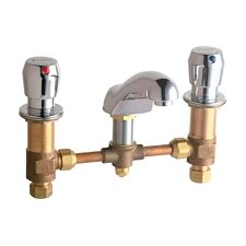 Widespread Bathroom Sink Faucet with Double Pump Handles
