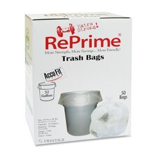 "Reprime Can Liners, 32 Gal, .90 Mil, 33"" X 44"", 50/Box"