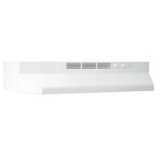 """41000 Series 36"""" Ductless Under Cabinet Range Hood in White"""