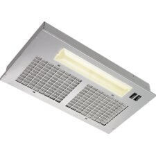 "20.5"" 250 CFM Convertible Under Cabinet Range Hood in Silver"