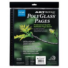 Art Portfolio Polyglass Refill Pages (Set of 10)