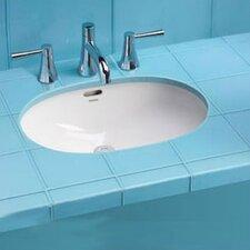Augusta Decorative Rimless Undermount Bathroom Sink with SanaGloss Glazing